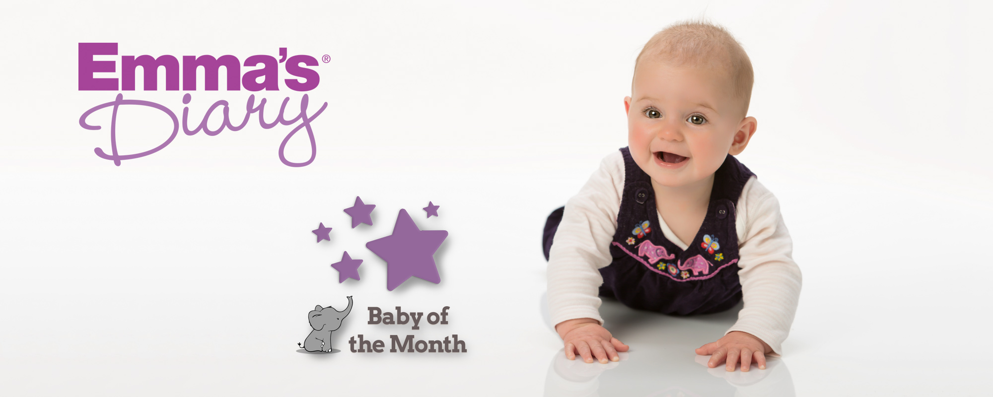 Young baby participating in Baby of the Month