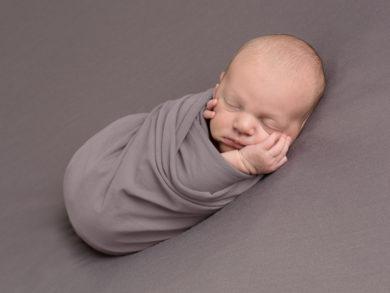 newborn baby boy wrapped